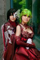 C.C. and Lelouch Prom by DownFall2448