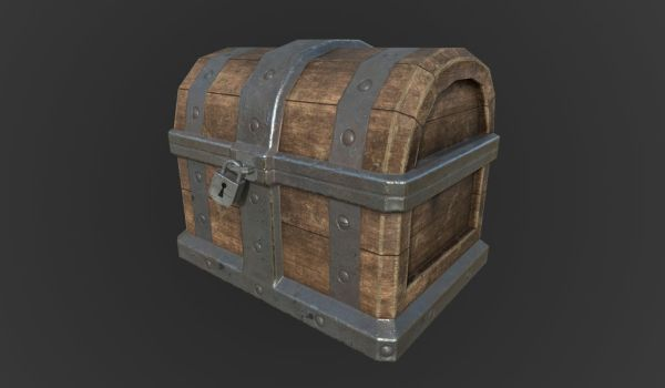Old Treasure Chest by JigglyRitz