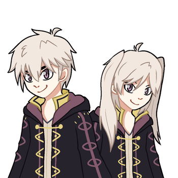 Male and Female Robin by KyzaCreations