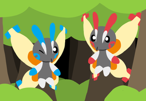 Plusle and Minun Mothims