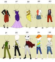 Adoptable: Clothing: 86-95 (CLOSED) by Biological-Solutions