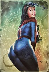 Bettie Page SpiderGirl 2017 by axlsalles