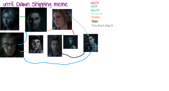 Until dawn shipping meme My ships by MooniGaming