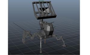 Heavy (would be) mecha front view by Jashma
