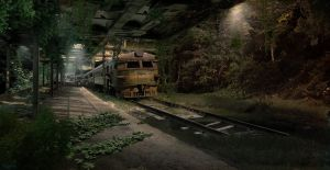 Abandoned Train Station by Nacho3
