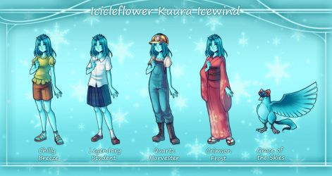 Icicleflower Costumes by Snow-the-Wanderer