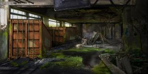 post apocalyptic environment concept- lonely by Zerox-II
