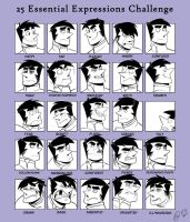Expression sheet - Ben by OwlyGem