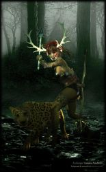 Woodland Druid by Andecaya