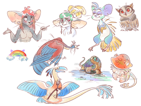Random sketches by AidenMonster
