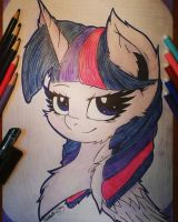 Twilight Sparkle. Portrait by Kindny-Chan