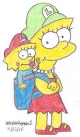 Lisa and Maggie Together by MarioSimpson1