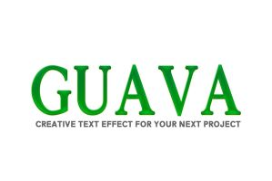 Free Guava PSD Text Effect by symufa