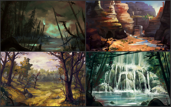 environment sketches by neonparrot