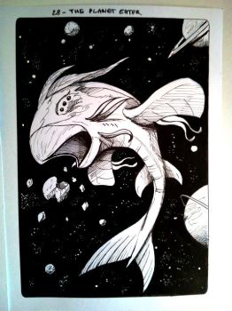Inktober 28 - The Planet Eater - 2017 by Hedrick-CS