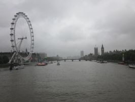London Eye and River Thames by Tempest19