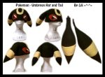 2nd Gen - Umbreon Hat and Tail by LiliNeko