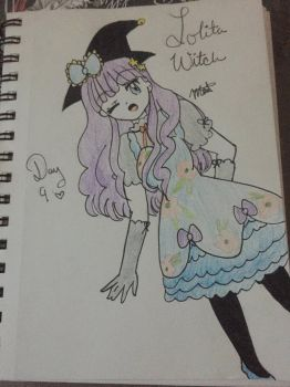 Day 9 Lolita Witch Finished by Pumpkin-Eclipse