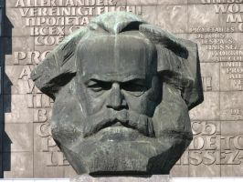 Monumental Bust of Karl Marx 3 by bitstarr
