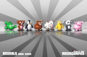 Archigraphs Animal Dock Icons by Cyberella74