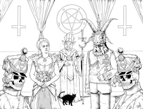 Satanic king Love Wow by baphomet-satan-666