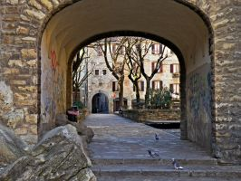 The courtyard by Sergiba