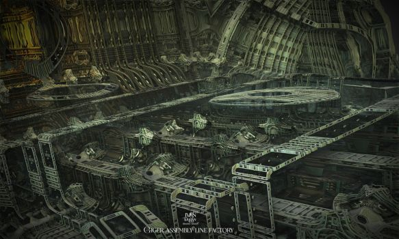 Giger assembly line factory by IvanDuran9