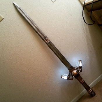 Steampunk sword assembled by agfrx7