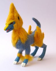 Manectric - needle felt by leopardcorgi