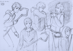 Jack Frost Sketches by SajoPhoe