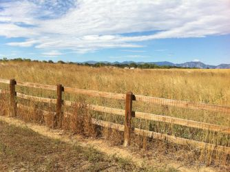 Fence and Mountains 1 by williamMalone