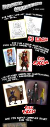 Iddstar's Commission Guide (Prices and suchlike) by Iddstar