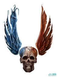 Winged Skull by krisztianhallai