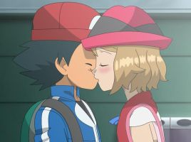 Serena Kissed Ash by WillDynamo55