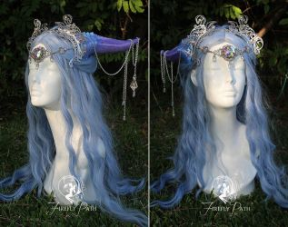 Amethyst Draconia Headdress by Firefly-Path