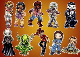Horror Stickers by GalacticDustBunnies