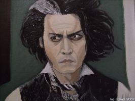 Johnny Depp - Sweeney Todd by shaman-art