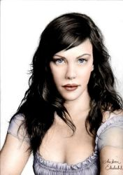 Liv Tyler - coloured by freakyhedgehog