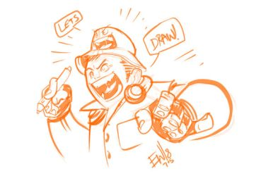 EW n Hat - Ready To Draw! - DRS Warmup by EryckWebbGraphics