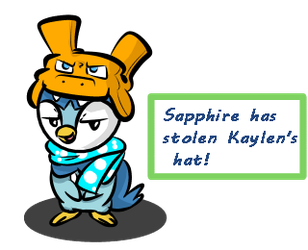 Sapphire the hat thief (FA) by CPtheLunarGoat