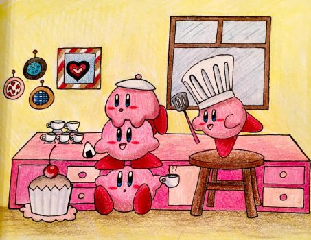 Kirby cafe by GhostFullmetal