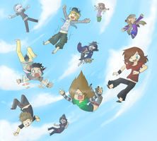 Friendly Free Fall by JustSomeZombie007