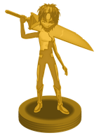 Gold William trophy by DlynK