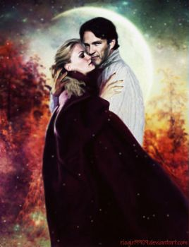 True Blood - Sookie and Bill - Winter Moonlight by riogirl9909