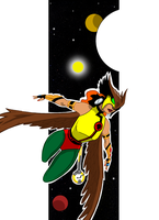 Hawkwoman colored by onecoyote