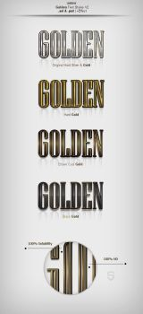 Golden Text Styles by sdemir