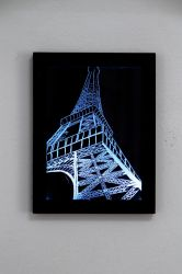 Eiffel Tower glass picture by cicciojus