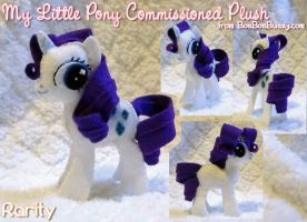 MLP Plush Rarity Take 2 by Bon-Bon-Bunny