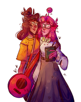 Rockstar girl and Lollipop girl by Teaophobia