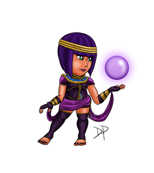 Menat Puzzle Fighter Style by Espiownage